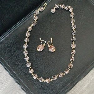 Jewelry - Antique Necklace & Earring Set! Glass Beads!